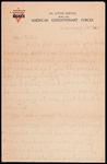 Wesley F. Diedrich First World War Correspondence #52